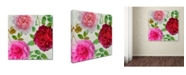 """Trademark Global Cora Niele 'Peonies And Roses V' Canvas Art - 18"""" x 18"""" x 2"""""""