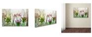 "Trademark Global Cora Niele 'Spring Flowers In Glass Bottles Iii' Canvas Art - 19"" x 12"" x 2"""