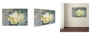 "Trademark Global Cora Niele 'Classic Double White Tulip Ii' Canvas Art - 47"" x 30"" x 2"""