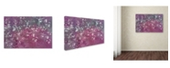 "Trademark Global Cora Niele 'Floral Flurry Violet' Canvas Art - 24"" x 16"" x 2"""