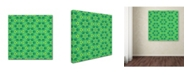 """Trademark Global Cora Niele 'Stained Glass Green Pattern' Canvas Art - 18"""" x 18"""" x 2"""""""