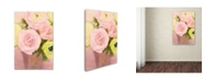 """Trademark Global Cora Niele 'Pink And Lime Spring Bouquet Ii' Canvas Art - 19"""" x 12"""" x 2"""""""