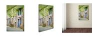 "Trademark Global Cora Niele 'Medieval Village Center Of Moncontour' Canvas Art - 19"" x 12"" x 2"""