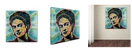 "Trademark Global Dean Russo 'Frida' Canvas Art - 18"" x 18"" x 2"""