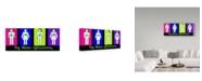 "Trademark Global Dana Brett Munach 'The Human Collective' Canvas Art - 19"" x 8"" x 2"""