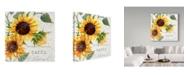 "Trademark Global Irina Trzaskos Studio 'Summertime Sunflowers II' Canvas Art - 18"" x 18"" x 2"""