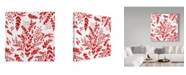 "Trademark Global Irina Trzaskos Studio 'Botanical pattern 1' Canvas Art - 24"" x 24"" x 2"""