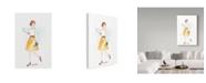 "Trademark Global Irina Trzaskos Studio 'Street Fashion IV' Canvas Art - 19"" x 12"" x 2"""