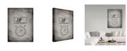 "Trademark Global Cole Borders 'Stock Telegraphic Ticker' Canvas Art - 19"" x 14"" x 2"""