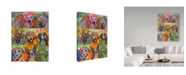 """Trademark Global Dean Russo 'Nine Up Of Dogs' Canvas Art - 19"""" x 14"""" x 2"""""""