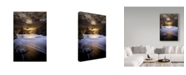"Trademark Global David Keochkerian 'Brown Coton' Canvas Art - 12"" x 2"" x 19"""