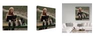 "Trademark Global David Dubnitskiy 'Reading To Cats' Canvas Art - 35"" x 2"" x 35"""