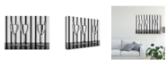 "Trademark Global Jacqueline Hammer 'Glasses Lines' Canvas Art - 19"" x 2"" x 14"""