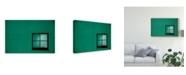 "Trademark Global Inge Schuster 'Green Window Architecture' Canvas Art - 24"" x 2"" x 16"""