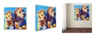 "Trademark Global DawgArt 'Max and Maggie' Canvas Art - 14"" x 14"" x 2"""