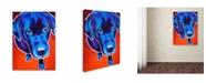 "Trademark Global DawgArt 'Lab Olive' Canvas Art - 24"" x 32"" x 2"""