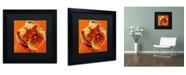 """Trademark Global DawgArt 'Blue' Matted Framed Art - 16"""" x 16"""" x 0.5"""""""