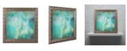 "Trademark Global Color Bakery 'Aqua Circumstance' Ornate Framed Art - 16"" x 16"" x 0.5"""