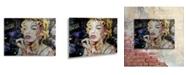 "Trademark Global Ines Kouidis 'Blond Smart Baby' Floating Brushed Aluminum Art - 16"" x 22"" x 1"""