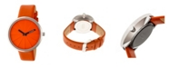 Simplify Quartz The 4000 Genuine Orange Leather Watch 43mm