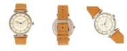 Simplify Quartz The 4800 White Dial, Genuine Khaki Leather Watch 44mm
