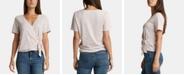 Silver Jeans Co. Adrea Heathered Surplice Top
