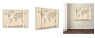 "Trademark Global Michael Tompsett 'Music Note World Map' Multi Panel Art Set Small - 32"" x 24"" x 2"""