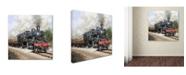 "Trademark Global The Macneil Studio 'Steam train Square' Canvas Art - 35"" x 35"" x 2"""