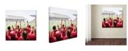 "Trademark Global The Macneil Studio 'Stadium' Canvas Art - 14"" x 14"" x 2"""
