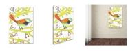 """Trademark Global Michelle Campbell 'Bird Design 2' Canvas Art - 47"""" x 30"""" x 2"""""""