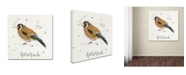 "Trademark Global Michelle Campbell 'Goldfinch' Canvas Art - 14"" x 14"" x 2"""