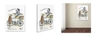 "Trademark Global Michelle Campbell 'Monsieur Blanc' Canvas Art - 47"" x 35"" x 2"""