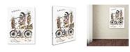 """Trademark Global Michelle Campbell 'Monsieur Noir' Canvas Art - 24"""" x 18"""" x 2"""""""