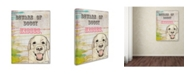 "Trademark Global Tammy Kushnir 'Beware Of Doggy Kisses' Canvas Art - 47"" x 35"" x 2"""
