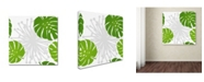 "Trademark Global Tina Lavoie 'Rain Forest Pattern III Leaves' Canvas Art - 35"" x 35"" x 2"""