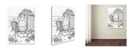 """Trademark Global Oxana Ziaka 'Sea: LINE ART' Canvas Art - 19"""" x 14"""" x 2"""""""