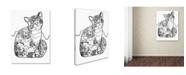 "Trademark Global Oxana Ziaka 'Beautiful Provence Cat: LINE ART' Canvas Art - 47"" x 35"" x 2"""