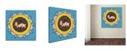 "Trademark Global Miguel Balbas 'Red Cross Dog' Canvas Art - 18"" x 18"" x 2"""