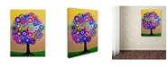 "Trademark Global Prisarts 'Sunny Tree Of Life' Canvas Art - 47"" x 35"" x 2"""