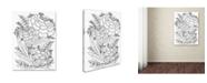 "Trademark Global Jessica Putnam 'Floral 42' Canvas Art - 19"" x 14"" x 2"""