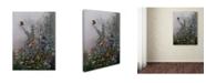 "Trademark Global Wanda Mumm 'The Blue's' Canvas Art - 19"" x 14"" x 2"""