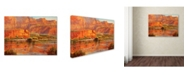 "Trademark Global Wanda Mumm 'Colorado River Breaks' Canvas Art - 24"" x 18"" x 2"""