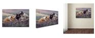 "Trademark Global Wanda Mumm 'Three Little Pigs' Canvas Art - 32"" x 22"" x 2"""