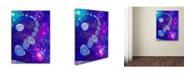 "Trademark Global MusicDreamerArt 'Bubble Moon' Canvas Art - 19"" x 14"" x 2"""