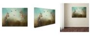 "Trademark Global Jai Johnson 'Watching The Waxwings' Canvas Art - 32"" x 24"" x 2"""