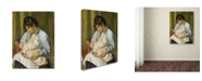 "Trademark Global Renoir 'A Woman Nursing A Child' Canvas Art - 19"" x 14"" x 2"""