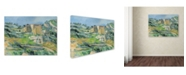 """Trademark Innovations Paul Cezanne 'Houses in the Provence 1833' Canvas Art - 47"""" x 35"""" x 2"""""""