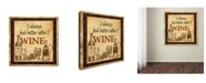 """Trademark Global Jean Plout 'Better After Wine' Canvas Art - 18"""" x 18"""" x 2"""""""