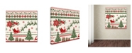 """Trademark Global Jean Plout 'Christmas Folklore 2' Canvas Art - 14"""" x 14"""" x 2"""""""