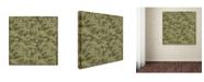 "Trademark Global Jean Plout 'Bear Crossing Camouflage' Canvas Art - 14"" x 14"" x 2"""